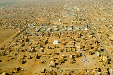 IBLKEL01820384 Aerial view, Khartoum, capital of Sudan, Africa