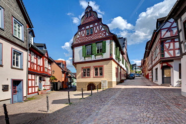 IBLMOX01796918 Idstein, German Half-Timbered House Road, Rheingau-Taunus district, Hesse, Germany, Europe