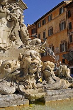 IBLMPP01795309 Fontana di Pantheon, fountain in Piazza della Rotonda, Rome, Lazio, Italy, Europe