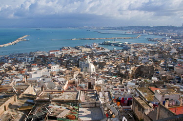 IBLRUN01849857 View over the Unesco World Heritage site, the Kasbah, historic district of Algiers, Algeria, Africa