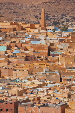 IBLRUN01851772 View over a village in the UNESCO World Heritage Site of M'zab, Algeria, Africa