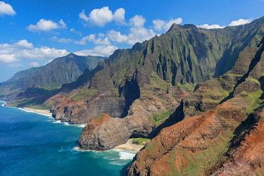 IBXERI04816884 Na Pali coast, aerial view, Kaua'i, Hawai'i, Polynesia