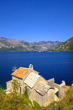IBXMAN04840838 Church Gospa od Andjela near Lepetane, Bay of Kotor, Province Tivat, Montenegro, Europe