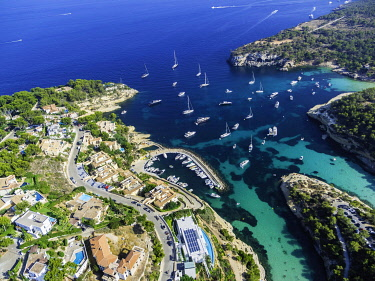IBXMOX04818070 Aerial photo, view of the bay of Portals Vells, Majorca, Balearic Islands, Spain, Europe