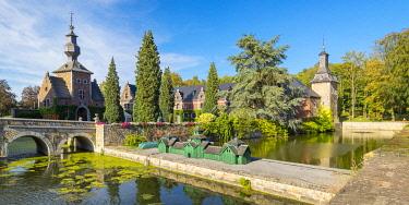 BEL1869AW Belgium, Waloon Region (Wallonia), Liege Province. Chateau de Jehay Castle.