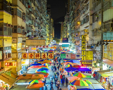 CH11964AWRF Fa Yuen street market at night, Mong Kok, Kowloon, Hong Kong, China