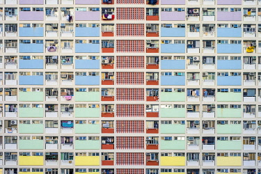 CH11975AWRF Choi Hung Estate, one of the oldest public housing estates in Hong Kong, Wong Tai Sin District, Kowloon, Hong Kong, China