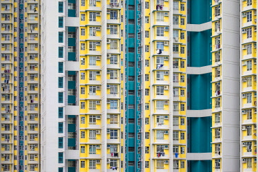 CH11976AWRF Highrise apartment block towers in Kowloon Bay, Kwun Tong District, New Territories, Hong Kong, China