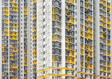 CH11977AWRF Shek Kip Mei Estate public housing apartment block towers, Shek Kip Mei, Kowloon, Hong Kong, China
