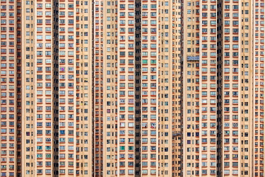 CH11947AW Public housing apartment block towers in Kowloon Bay, Kwun Tong District, New Territories, Hong Kong, China