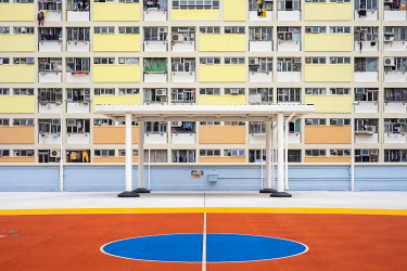 CH11948AW Choi Hung Estate, one of the oldest public housing estates in Hong Kong, Wong Tai Sin District, Kowloon, Hong Kong, China