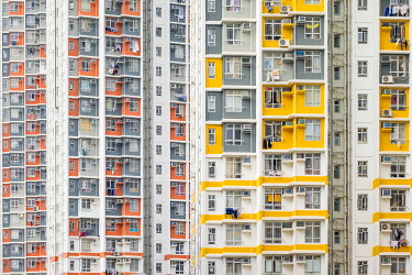 CH11957AW Shek Kip Mei Estate public housing apartment block towers, Shek Kip Mei, Kowloon, Hong Kong, China