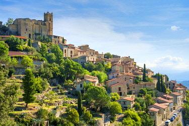 FRA11374AWRF Hilltop town of Eus, Pyrénées-Orientales, Languedoc-Roussillon, France.