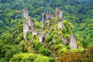FRA11099AW Tours de Merle, Saint-Geniez-ô-Merle, Corrèze département, Limousin, France.