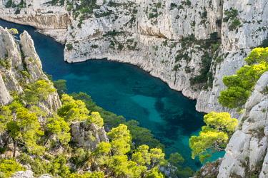 FRA11155AW Calanque d'En-Vau, Parc National des Calanques, Bouches-du-Rhône, Provence-Alpes-Côte d'Azur, France.