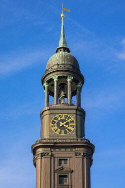 GER11797AW Tower of Hauptkirche Sankt Michaelis (St. Michael's Church), Neustadt, Hamburg, Germany