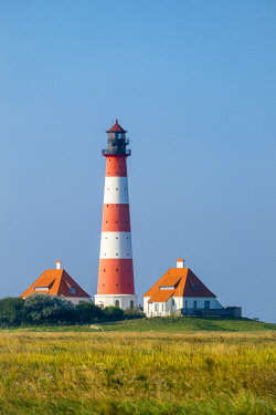 GER11809AW Westerhever Lighthouse, built in 1906, Westerhever, Nordfriesland, Schleswig-Holstein, Germany