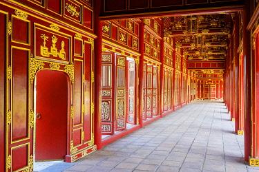VIT1716AWRF Galleries of Can Chanh Palace in the Halls of the Mandarins, Imperial City, Huá��, Thá��a Thiên-Huá�� Province, Vietnam