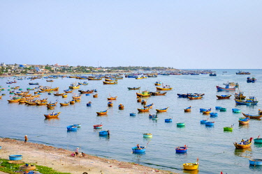 VIT1631AW Fishing boats in harbor at MÅ�i Né, Phan Thiá��t, Bình Thuá��n Province, Vietnam