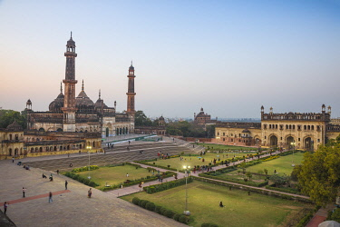 IN388RF India, Uttar Pradesh, Lucknow, Asifi Mosque at Bara Imambara complex