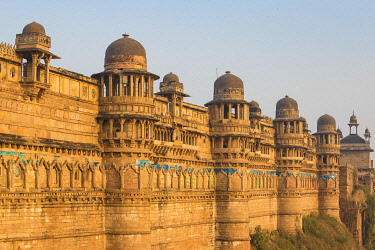 IN401RF India, Madhya Pradesh, Gwalior, Gwalior Fort, Man Singh Palace