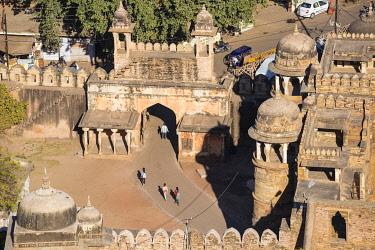 IN08406 India, Madhya Pradesh, Gwalior, View of Gwalior gate - Entrance to Gwalior Fort