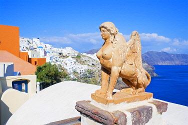 GRE1707AW Oia village, Oia, Santorini, Cyclades Islands, Greece