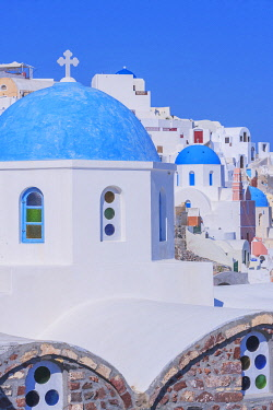 GRE1714AW Oia village, Oia, Santorini, Cyclades Islands, Greece