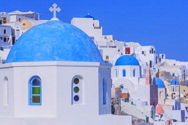 GRE1715AW Oia village, Oia, Santorini, Cyclades Islands, Greece