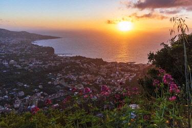 ITA13862AW Europe, Italy, Campania. Sunset over Sorrento.
