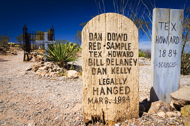US03RBS0074 Graves at Boothill Graveyard, Tombstone, Arizona, USA