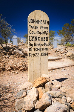 US03RBS0075 Graves at Boothill Graveyard, Tombstone, Arizona, USA