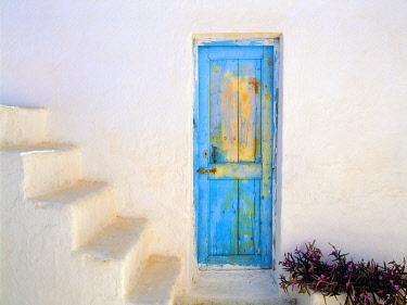 EU12BJY0003 Greece, Nissyros. Weathered door and stairway