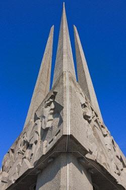 EU50KSU0074 Memorial in honor of soldiers, guerillas and members of the underground activity in Victory Square, Vitebsk, Belarus