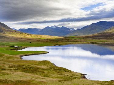 EU14MZW1422 Landscape at Miklavatn, Trollaskagi, near Siglufjordur. Northern Iceland