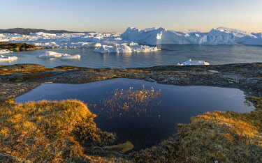 GR01MZW0658 Ilulissat Icefjord, a UNESCO World Heritage Site, also called kangia or Ilulissat Kangerlua at Disko Bay. Greenland, Denmark