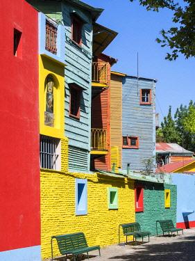SA01MZW0567 Caminito, the street of Tango. South America, Buenos Aires, Argentina.