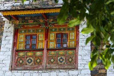 AS07KSU2261 Old house in Zhuokeji Headman's Village, Ngawa Tibetan and Qiang Autonomous Prefecture, western Sichuan, China