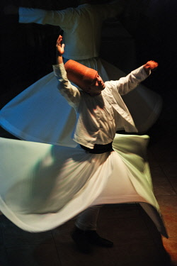 AS37KSU0247 Whirling dervishes dancing, Istanbul, Turkey