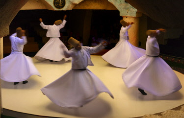 AS37KSU0269 Whirling dervishes dancing. Goreme, Cappadocia, Turkey