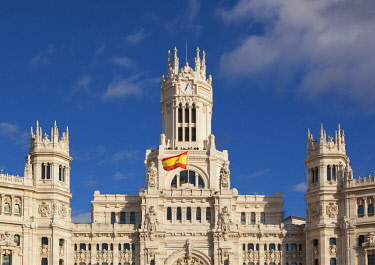 SPA9381AWRF Spain, Madrid. Plaza de Cibeles, town hall building