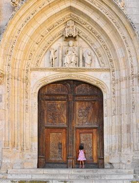 SPA9299AW Spain, Castile and Leon, Burgos, Plaza de Santa Maria, San Nicolas de Bari (MR)