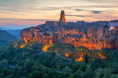 ITA13988AWRF View at Pitigliano, Grosseto, Maremma,Tuscany, Italy