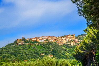 ITA14023AW View at Scarlino, Grosseto, Maremma,Tuscany, Italy