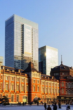 JAP1697 Asia, Japan, Tokyo, Tokyo station red brick building
