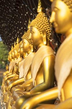 SRI2371AWRF Statues at Seema Malakaya on Bere Lake, Colombo, Sri Lanka