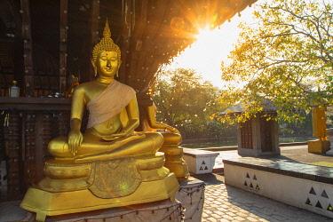 SRI2320AW Buddha statues at Seema Malakaya temple, Colombo, Sri Lanka