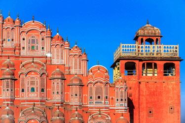 IBXKIP04286431 Facade of the Hawa Mahal, Palace of the Winds, Jaipur, Rajasthan, India, Asia