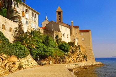 IBXPWN03750187 Promenade, medieval town of Rab, Rab Island, Primorje-Gorski Kotar County, Croatia, Europe