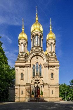 IBXRAI03942853 Russian Orthodox Church, Nerobergbahn, Wiesbaden, Hesse, Germany, Europe